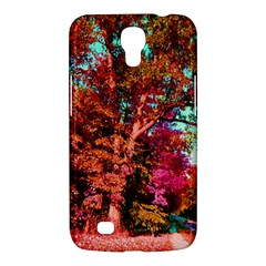 Abstract Fall Trees Saturated With Orange Pink And Turquoise Samsung Galaxy Mega 6.3  I9200 Hardshell Case