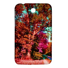 Abstract Fall Trees Saturated With Orange Pink And Turquoise Samsung Galaxy Tab 3 (7 ) P3200 Hardshell Case