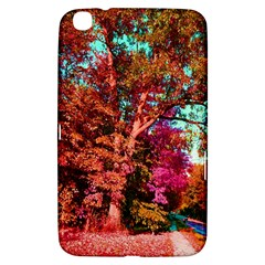 Abstract Fall Trees Saturated With Orange Pink And Turquoise Samsung Galaxy Tab 3 (8 ) T3100 Hardshell Case