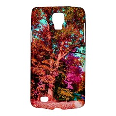 Abstract Fall Trees Saturated With Orange Pink And Turquoise Galaxy S4 Active