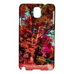Abstract Fall Trees Saturated With Orange Pink And Turquoise Samsung Galaxy Note 3 N9005 Hardshell Case