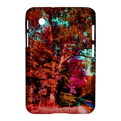 Abstract Fall Trees Saturated With Orange Pink And Turquoise Samsung Galaxy Tab 2 (7 ) P3100 Hardshell Case