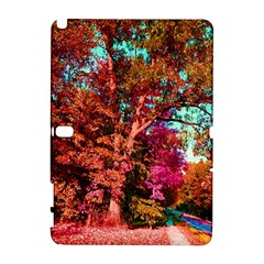 Abstract Fall Trees Saturated With Orange Pink And Turquoise Galaxy Note 1