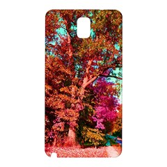 Abstract Fall Trees Saturated With Orange Pink And Turquoise Samsung Galaxy Note 3 N9005 Hardshell Back Case
