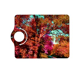 Abstract Fall Trees Saturated With Orange Pink And Turquoise Kindle Fire HD (2013) Flip 360 Case