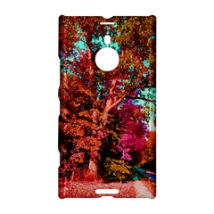 Abstract Fall Trees Saturated With Orange Pink And Turquoise Nokia Lumia 1520