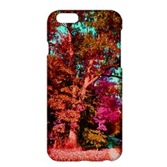 Abstract Fall Trees Saturated With Orange Pink And Turquoise Apple iPhone 6 Plus/6S Plus Hardshell Case