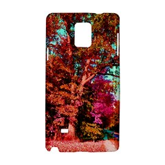 Abstract Fall Trees Saturated With Orange Pink And Turquoise Samsung Galaxy Note 4 Hardshell Case