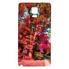 Abstract Fall Trees Saturated With Orange Pink And Turquoise Galaxy Note 4 Back Case