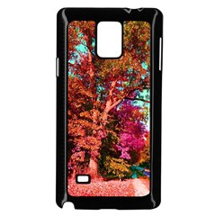 Abstract Fall Trees Saturated With Orange Pink And Turquoise Samsung Galaxy Note 4 Case (Black)