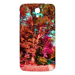 Abstract Fall Trees Saturated With Orange Pink And Turquoise Samsung Galaxy Mega I9200 Hardshell Back Case