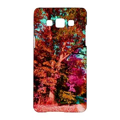 Abstract Fall Trees Saturated With Orange Pink And Turquoise Samsung Galaxy A5 Hardshell Case