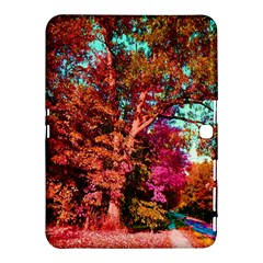 Abstract Fall Trees Saturated With Orange Pink And Turquoise Samsung Galaxy Tab 4 (10.1 ) Hardshell Case
