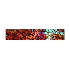 Abstract Fall Trees Saturated With Orange Pink And Turquoise Flano Scarf (Mini)