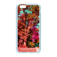 Abstract Fall Trees Saturated With Orange Pink And Turquoise Apple Seamless iPhone 6/6S Case (Color)