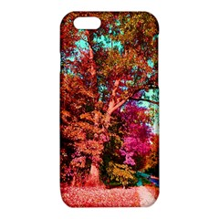Abstract Fall Trees Saturated With Orange Pink And Turquoise iPhone 6/6S TPU Case