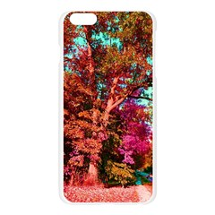 Abstract Fall Trees Saturated With Orange Pink And Turquoise Apple Seamless iPhone 6 Plus/6S Plus Case (Transparent)