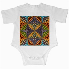 Kaleidoscopic Pattern Colorful Kaleidoscopic Pattern With Fabric Texture Infant Creepers