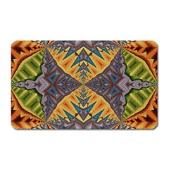 Kaleidoscopic Pattern Colorful Kaleidoscopic Pattern With Fabric Texture Magnet (rectangular)