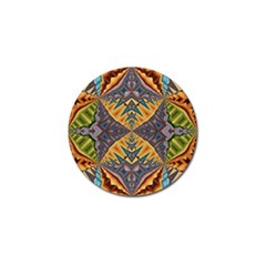 Kaleidoscopic Pattern Colorful Kaleidoscopic Pattern With Fabric Texture Golf Ball Marker (10 pack)