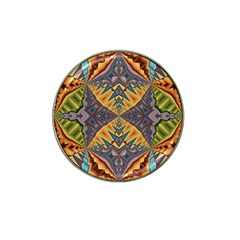 Kaleidoscopic Pattern Colorful Kaleidoscopic Pattern With Fabric Texture Hat Clip Ball Marker