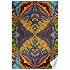 Kaleidoscopic Pattern Colorful Kaleidoscopic Pattern With Fabric Texture Canvas 12  X 18