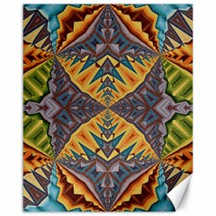 Kaleidoscopic Pattern Colorful Kaleidoscopic Pattern With Fabric Texture Canvas 16  x 20