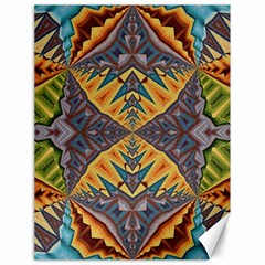 Kaleidoscopic Pattern Colorful Kaleidoscopic Pattern With Fabric Texture Canvas 18  x 24