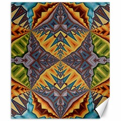 Kaleidoscopic Pattern Colorful Kaleidoscopic Pattern With Fabric Texture Canvas 20  x 24
