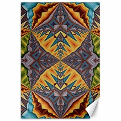 Kaleidoscopic Pattern Colorful Kaleidoscopic Pattern With Fabric Texture Canvas 20  X 30
