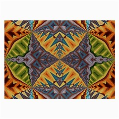 Kaleidoscopic Pattern Colorful Kaleidoscopic Pattern With Fabric Texture Large Glasses Cloth (2-Side)