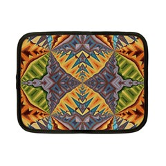 Kaleidoscopic Pattern Colorful Kaleidoscopic Pattern With Fabric Texture Netbook Case (small)