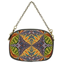 Kaleidoscopic Pattern Colorful Kaleidoscopic Pattern With Fabric Texture Chain Purses (one Side)