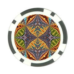 Kaleidoscopic Pattern Colorful Kaleidoscopic Pattern With Fabric Texture Poker Chip Card Guard (10 pack)
