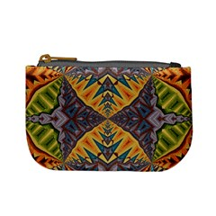 Kaleidoscopic Pattern Colorful Kaleidoscopic Pattern With Fabric Texture Mini Coin Purses
