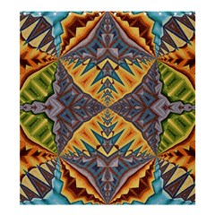 Kaleidoscopic Pattern Colorful Kaleidoscopic Pattern With Fabric Texture Shower Curtain 66  X 72  (large)