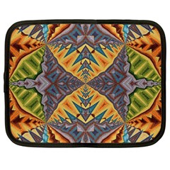 Kaleidoscopic Pattern Colorful Kaleidoscopic Pattern With Fabric Texture Netbook Case (xxl)