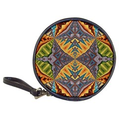 Kaleidoscopic Pattern Colorful Kaleidoscopic Pattern With Fabric Texture Classic 20-CD Wallets
