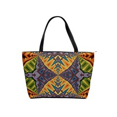 Kaleidoscopic Pattern Colorful Kaleidoscopic Pattern With Fabric Texture Shoulder Handbags