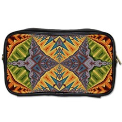 Kaleidoscopic Pattern Colorful Kaleidoscopic Pattern With Fabric Texture Toiletries Bags 2-Side