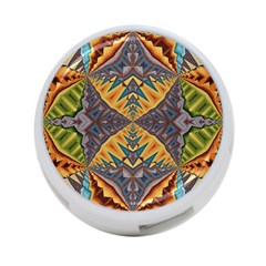Kaleidoscopic Pattern Colorful Kaleidoscopic Pattern With Fabric Texture 4-Port USB Hub (Two Sides)