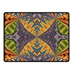 Kaleidoscopic Pattern Colorful Kaleidoscopic Pattern With Fabric Texture Fleece Blanket (Small)