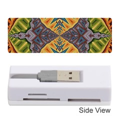 Kaleidoscopic Pattern Colorful Kaleidoscopic Pattern With Fabric Texture Memory Card Reader (stick)