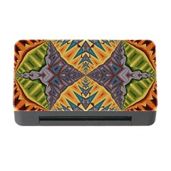 Kaleidoscopic Pattern Colorful Kaleidoscopic Pattern With Fabric Texture Memory Card Reader With Cf