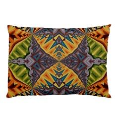 Kaleidoscopic Pattern Colorful Kaleidoscopic Pattern With Fabric Texture Pillow Case (Two Sides)