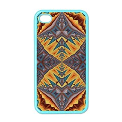 Kaleidoscopic Pattern Colorful Kaleidoscopic Pattern With Fabric Texture Apple iPhone 4 Case (Color)