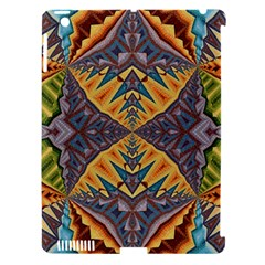 Kaleidoscopic Pattern Colorful Kaleidoscopic Pattern With Fabric Texture Apple Ipad 3/4 Hardshell Case (compatible With Smart Cover)