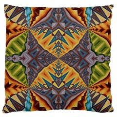 Kaleidoscopic Pattern Colorful Kaleidoscopic Pattern With Fabric Texture Large Cushion Case (Two Sides)