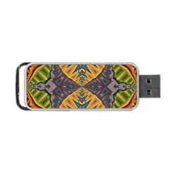 Kaleidoscopic Pattern Colorful Kaleidoscopic Pattern With Fabric Texture Portable USB Flash (One Side)
