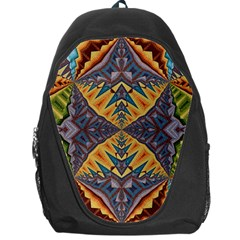 Kaleidoscopic Pattern Colorful Kaleidoscopic Pattern With Fabric Texture Backpack Bag